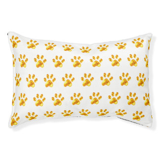 Cute golden paws pet bed
