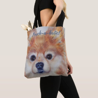 CUTE GOLDEN POMERANIAN TOTE BAG