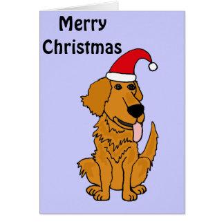 Cute Golden Retriever Christmas card