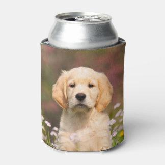Cute Golden Retriever Dog Puppy Face Photo  Bawdle Can Cooler