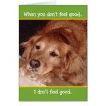 Cute Golden Retriever Get Well Card