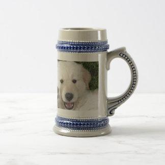 Cute Golden Retriever pup Beer Steins