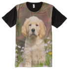 Cute Golden Retriever puppy All-Over Print T-Shirt