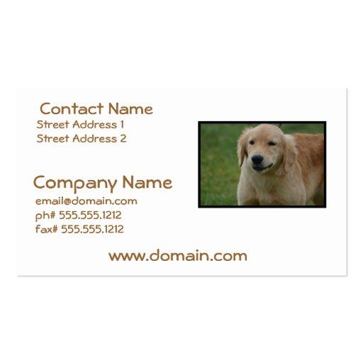 Cute Golden Retriever Puppy Business Cards