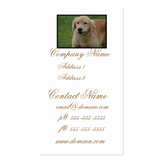 Cute Golden Retriever Puppy Double-Sided Standard Business Cards (Pack Of 100)
