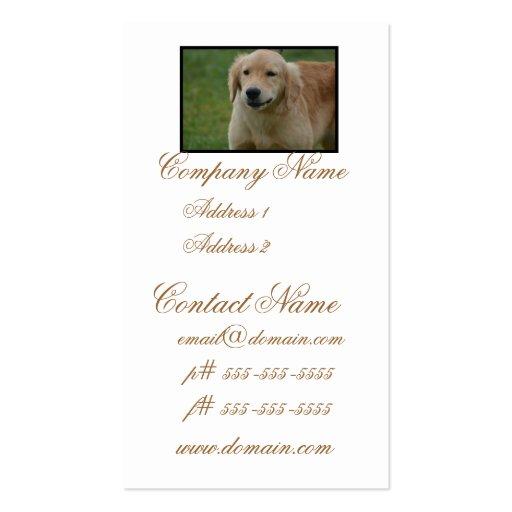 Cute Golden Retriever Puppy Business Card
