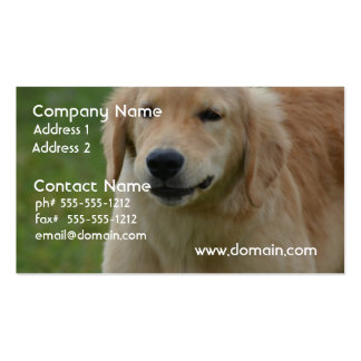 Cute Golden Retriever Puppy Pack Of Standard Business Cards