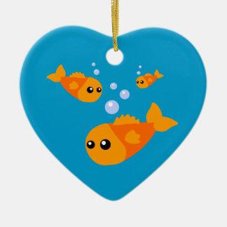 Cute Goldfish Christmas Ornament