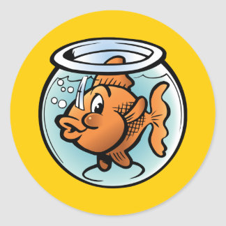 Cute Goldfish Classic Round Sticker