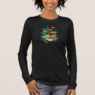 Cute goldfish in the ocean long sleeve T-Shirt