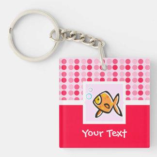 Cute Goldfish Square Acrylic Key Chain