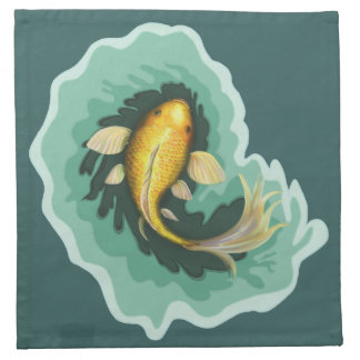 Cute Goldfish Koi Napkin
