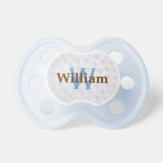 Cute Golf Ball Monogram Pacifier