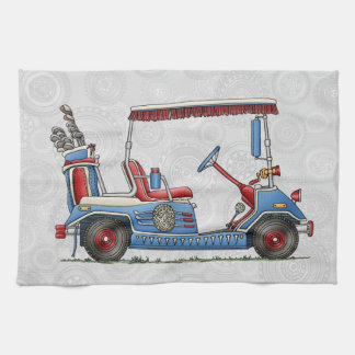 Cute Golf Cart Tea Towel