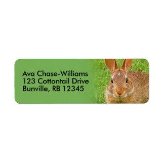 Cute Golf Groundskeeper Bunny Return Address Label