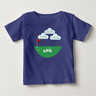 Cute Golfing Daddy's Little Caddie Custom Baby T-Shirt