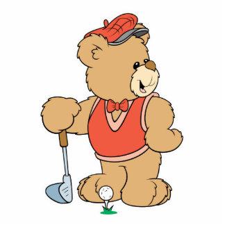 Cute Golfing Golfer Bear Photo Cut Out