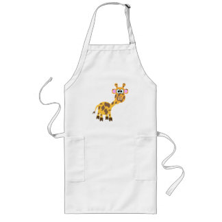 Cute Goofkins giraffe Long Apron