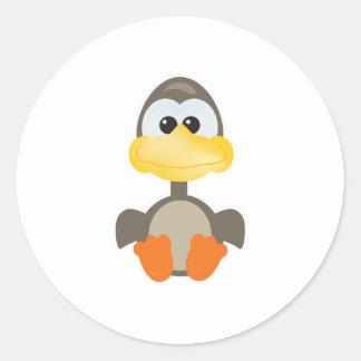 Cute Goofkins goose Round Sticker