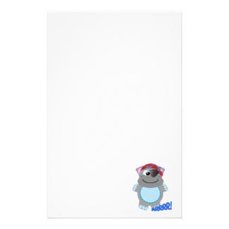 Cute Goofkins hippo pirate Customized Stationery