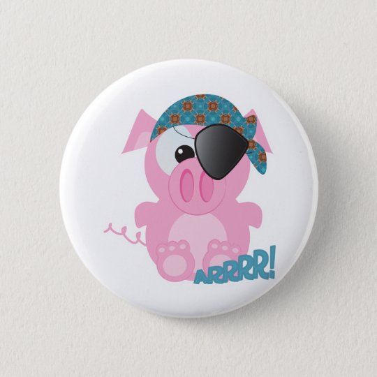 Cute Goofkins piggy pirate 6 Cm Round Badge