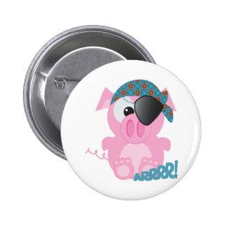 Cute Goofkins piggy pirate 6 Cm Round Badge