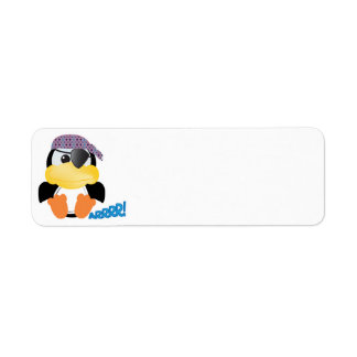 Cute Goofkins pirate penguin Return Address Label