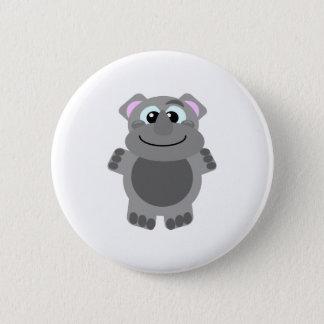 Cute Goofkins rhino 6 Cm Round Badge