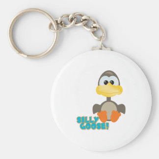 Cute Goofkins silly goose Basic Round Button Key Ring