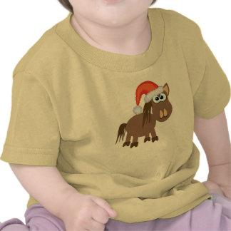 Cute Goofkins Xmas horse santa T-shirt