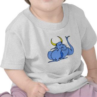 Cute Goofy Blue Dragon T-shirts