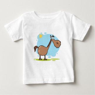 Cute Goofy Brown Cartoon Horse Tee Shirt