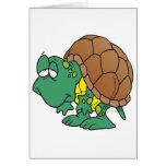 cute goofy cartoon turtle character card