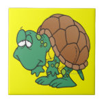 cute goofy cartoon turtle character ceramic tiles