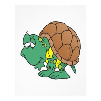 cute goofy cartoon turtle character flyer design