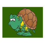 cute goofy cartoon turtle character post cards