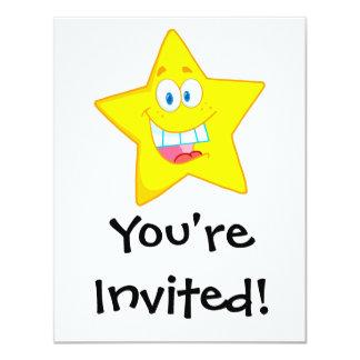 cute goofy star cartoon smiley custom announcement