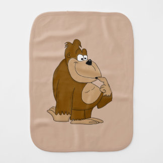 Cute gorilla burp cloth