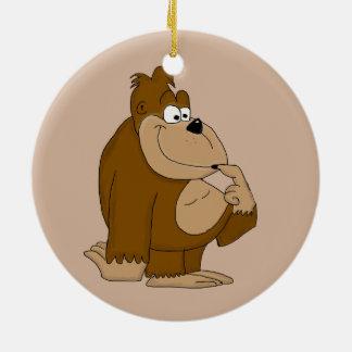 Cute gorilla christmas ornament
