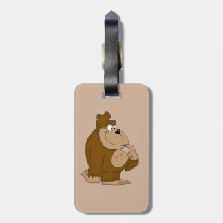 Cute gorilla luggage tag
