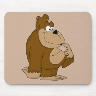 Cute gorilla mouse pad