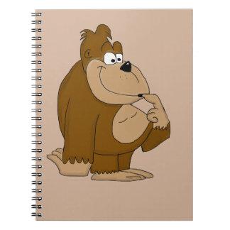 Cute gorilla notebook