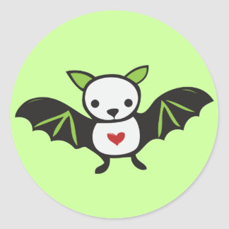 Cute Goth Bat Classic Round Sticker