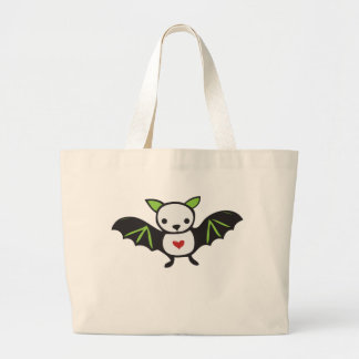 Cute Goth Bat Jumbo Tote Bag
