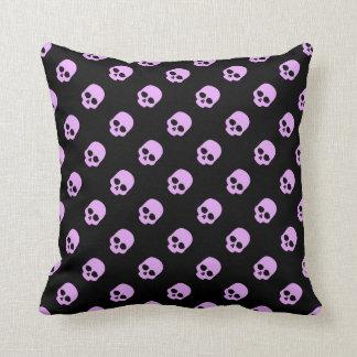 Cute Goth Pink Skulls Cushion