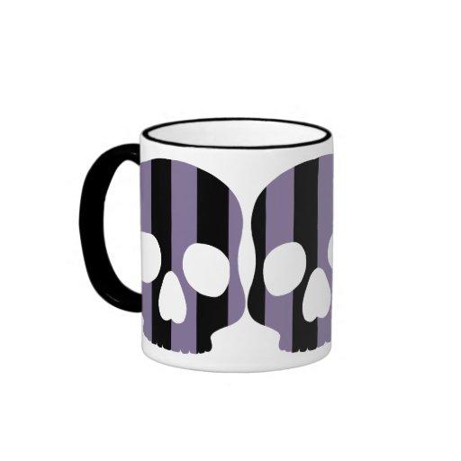 Cute goth striped skull mugs