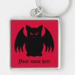 Cute gothic black vampire bat keychain