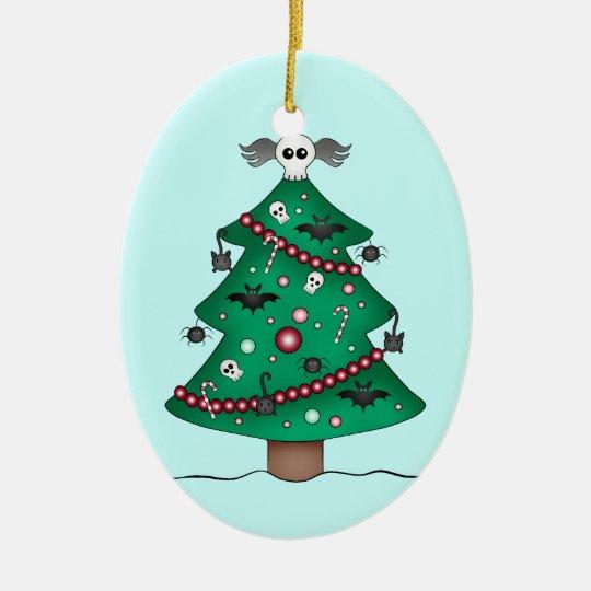 Cute gothic Christmas tree Christmas Ornament