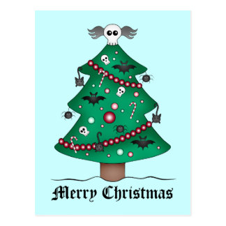 Cute gothic Christmas tree Postcard