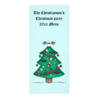 Cute gothic Christmas tree Rack Card Template